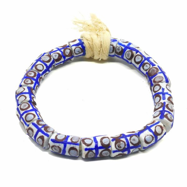 Fafa Handmade African Tube Beads, From Recycled Glass
