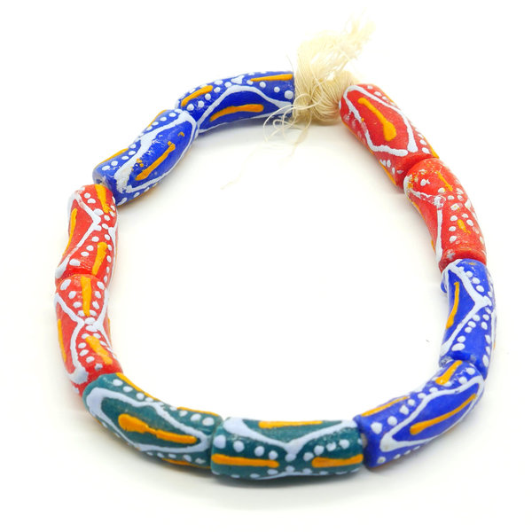 Kekeli Handmade African Tube Beads, From Recycled Glass