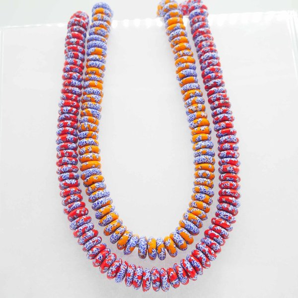 DULA Handmade African Disc beads, from recycle Glass for Jewellery/Arts/Crafts